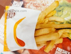 Menu Fries Burger King